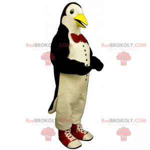 Maskotka pingwin z muszką i trampkami - Redbrokoly.com