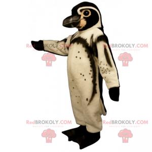 Maskot bílý a hnědý tučňák - Redbrokoly.com