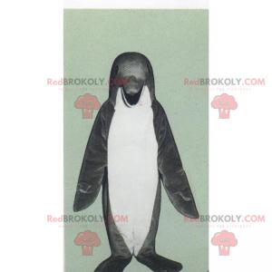 Šedý tučňák maskot - Redbrokoly.com
