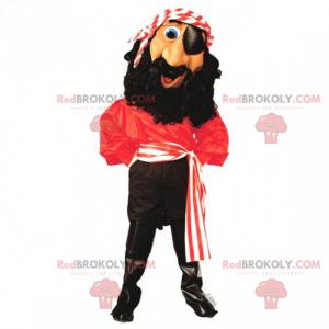 Pirat-maskot med pandebånd - Redbrokoly.com