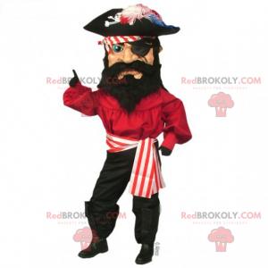 Mascotte pirata con benda sull'occhio - Redbrokoly.com