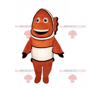 Mascotte di pesce pagliaccio sorridente - Redbrokoly.com