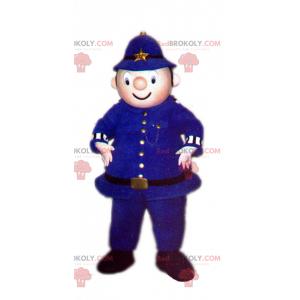 Polizist Maskottchen im blauen Outfit - Redbrokoly.com