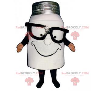 Maskotka garnek mleka w ciemnych okularach - Redbrokoly.com