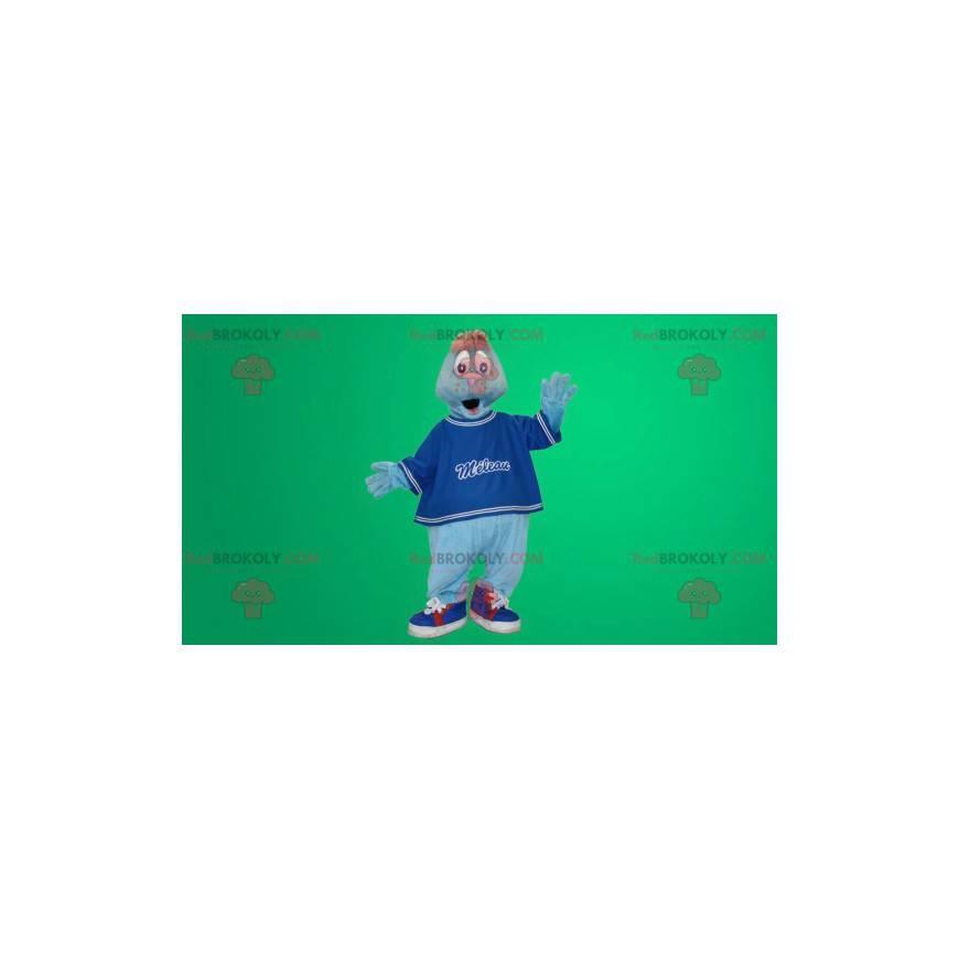 Modrý lachtan maskot - Redbrokoly.com