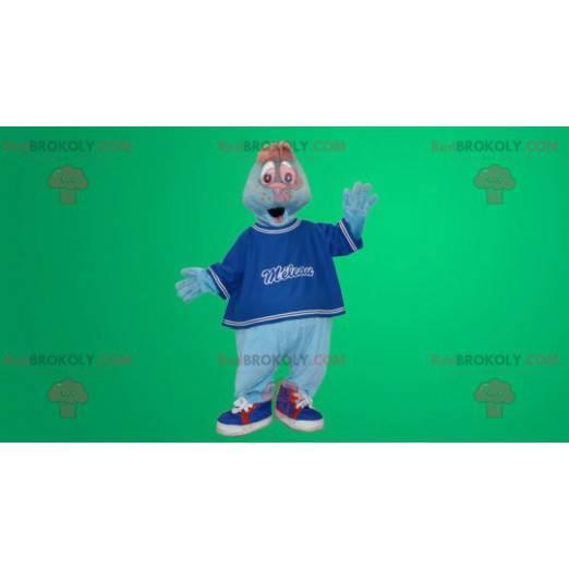 Blue sea lion mascot - Redbrokoly.com