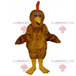 Brown chicken mascot - Redbrokoly.com