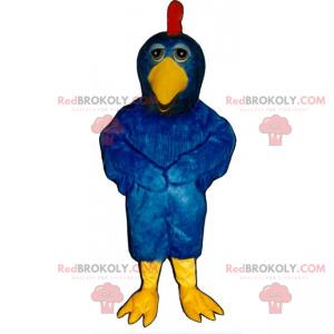 Blaues Hühnermaskottchen - Redbrokoly.com
