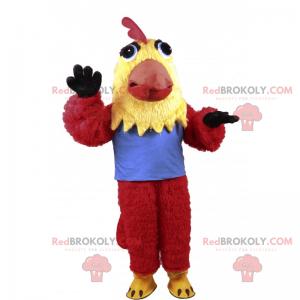 Trikolorní kuřecí maskot - Redbrokoly.com