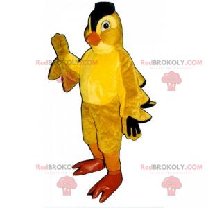 Kyllingmaskot med svart topp - Redbrokoly.com