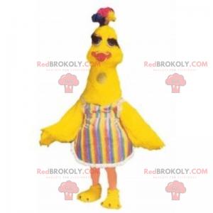Mládě maskot s pruhovanými šaty - Redbrokoly.com