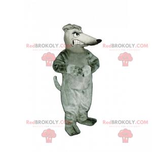 Sint grå rotte maskot - Redbrokoly.com