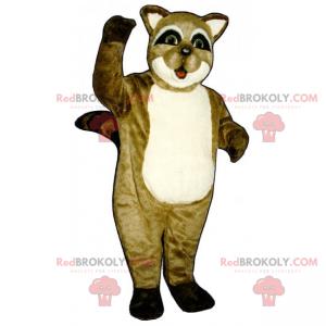 Mascote de guaxinim - Redbrokoly.com