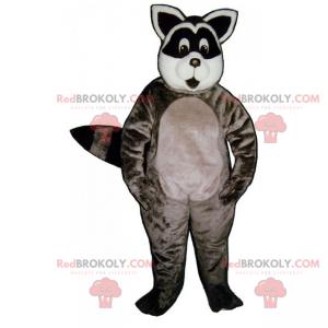 Raccoon maskot med et rundt ansikt - Redbrokoly.com