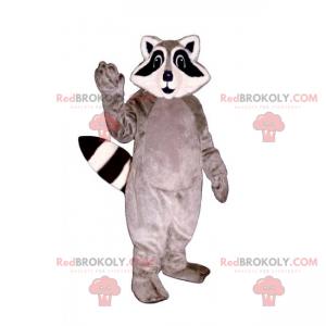 Gray and white raccoon mascot - Redbrokoly.com