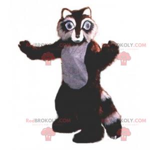 Brown raccoon mascot - Redbrokoly.com