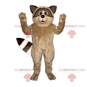 Braunes Waschbärenmaskottchen - Redbrokoly.com