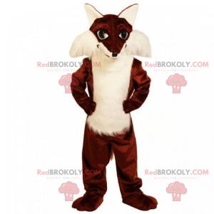 Soft belly fox mascot - Redbrokoly.com