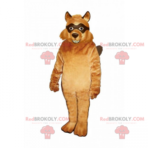 Fox mascot with black eyes - Redbrokoly.com