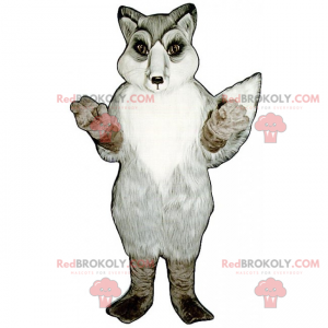 Snow Fox maskot - Redbrokoly.com
