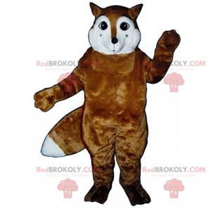 Maskot hnědá liška a bílý obličej - Redbrokoly.com