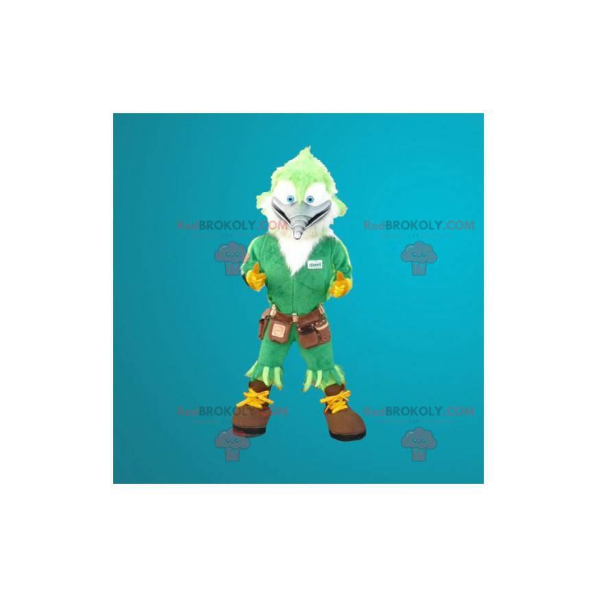 Carpenter woodpecker green bird mascot - Redbrokoly.com