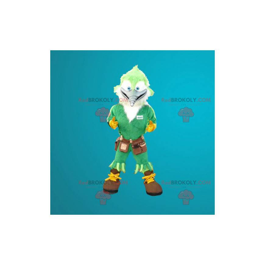Maskotka zielony ptak stolarz dzięcioł - Redbrokoly.com