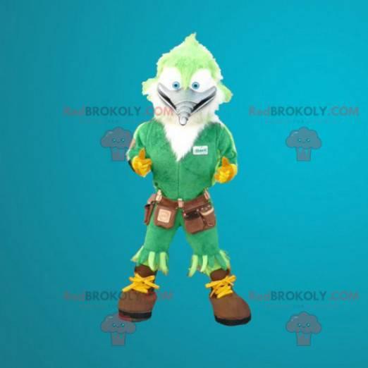 Tømrer hakkespett grønn fuglemaskot - Redbrokoly.com