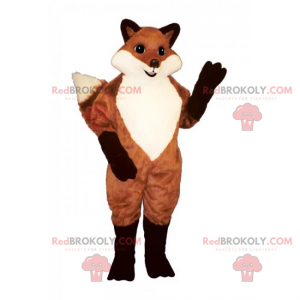 Red fox mascot and black legs - Redbrokoly.com