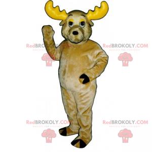 Reindeer mascot with yellow horns - Redbrokoly.com
