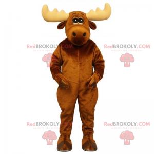 Reinsdyrmaskot med beige horn - Redbrokoly.com