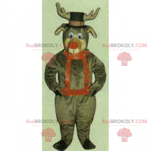 Santa Claus Reindeer Mascot - Redbrokoly.com