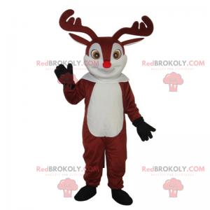 Weihnachtsmanns Rentiermaskottchen - Redbrokoly.com
