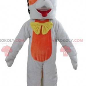 Obří oranžový a bílý pes maskot - Redbrokoly.com