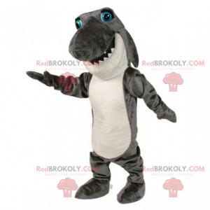 Shark maskot med blå øyne - Redbrokoly.com