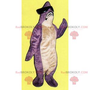 Maskot žralok s tmavými brýlemi - Redbrokoly.com