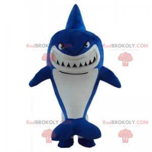 Angry blue shark mascot - Redbrokoly.com