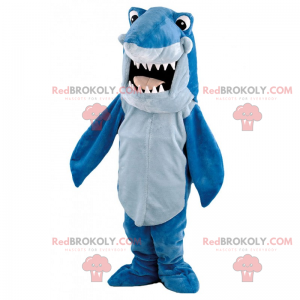 Shark mascot cartoon - Redbrokoly.com