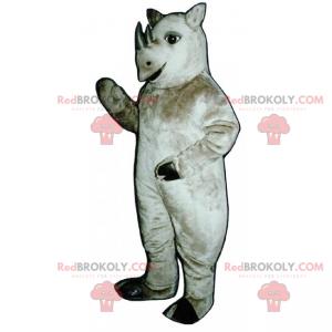 Nashorn Maskottchen mit kleinen Stoßzähnen - Redbrokoly.com