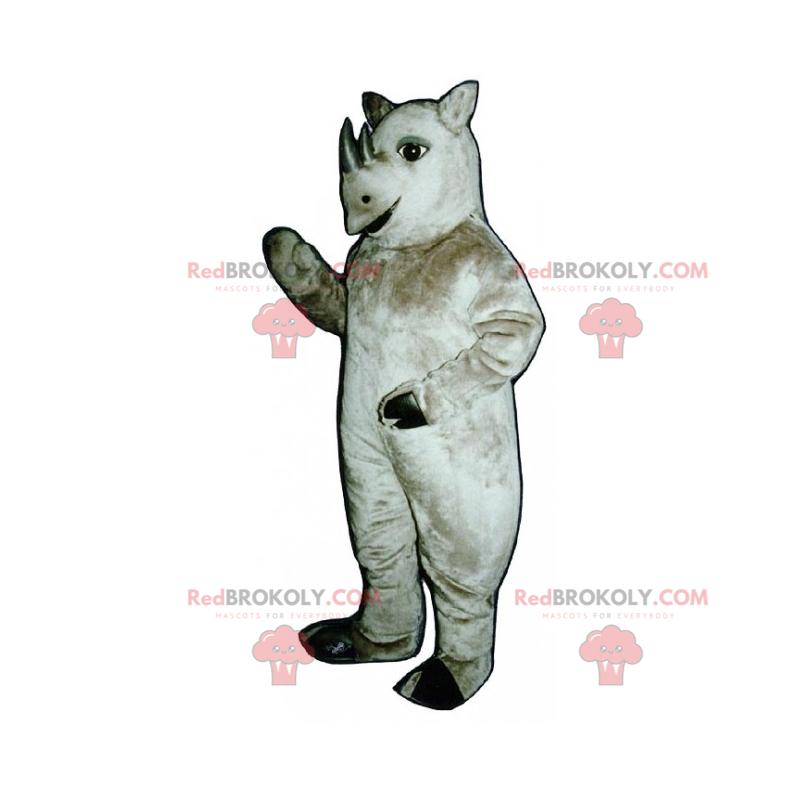 Rhinoceros mascot with small tusks - Redbrokoly.com