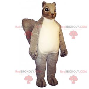 Mascote esquilo de pêlo comprido - Redbrokoly.com