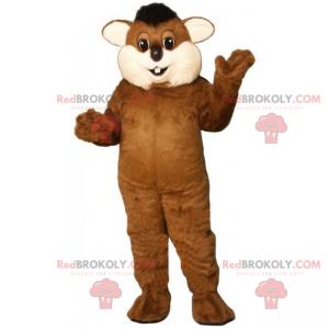 Rodent mascot with big cheeks - Redbrokoly.com