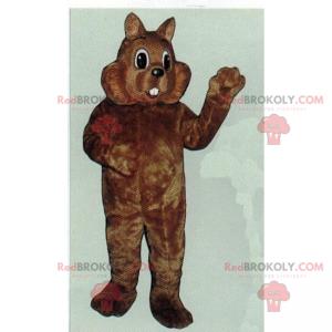 Maskotka gryzonia z dużymi policzkami - Redbrokoly.com