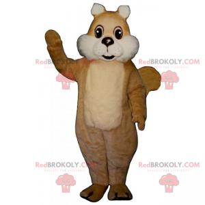 Eichhörnchen-Maskottchen mit weißen Wangen - Redbrokoly.com