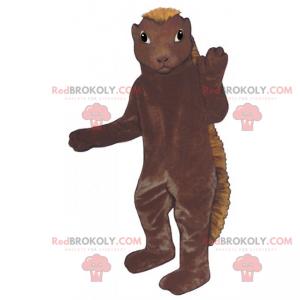 Nagetier-Maskottchen mit langem Kamm - Redbrokoly.com
