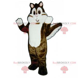 Maskot bílé a hnědé veverky - Redbrokoly.com