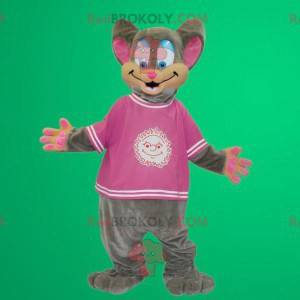 Gray and pink mouse costume - Redbrokoly.com
