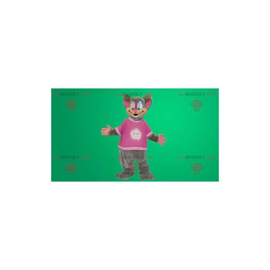 Grå og rosa musedrakt - Redbrokoly.com