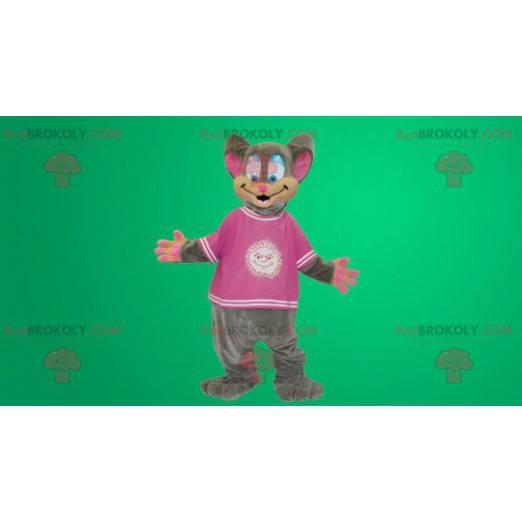 Šedý a růžový kostým myši - Redbrokoly.com