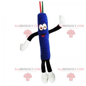 Blå rullemaskot - Redbrokoly.com